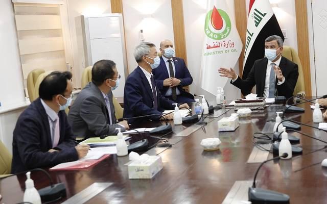وزير النفط العراقي يترأس اجتماعا ضم المقاول المنفذ لمشروع غاز الحلفاية ورئيس شركة بتروجاينا المشغل الرئيس للحقل