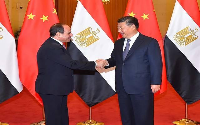 الرئيس المصري عبد الفتاح السيسي ورئيس الصين شى جين بينغ