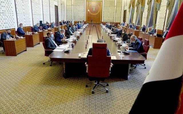 جانب من الجلسة الاستثنائية للحكومة العراقية لمناقشة الموازنة العامة الاتحادية للسنة المالية 2021