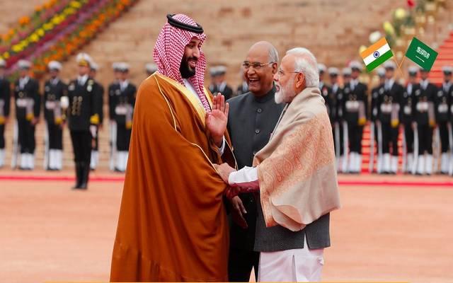 استقبال رئيس الوزراء الهندي الأمير محمد بن سلمان بحضور رئيس الهند