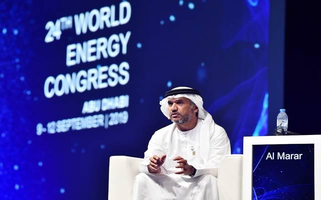 رئيس دائرة الطاقة في أبوظبي- عويضة مرشد المرر خلال مؤتمر أبوظبي للطاقة 2019