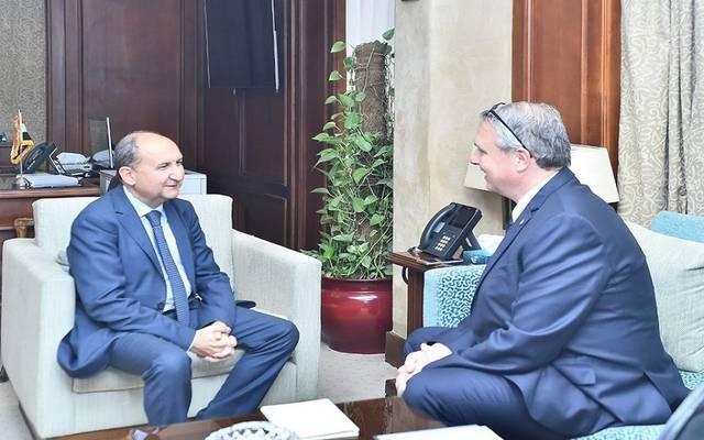 جانب من لقاء وزير التجارة المصري مع سفير المجر بالقاهرة