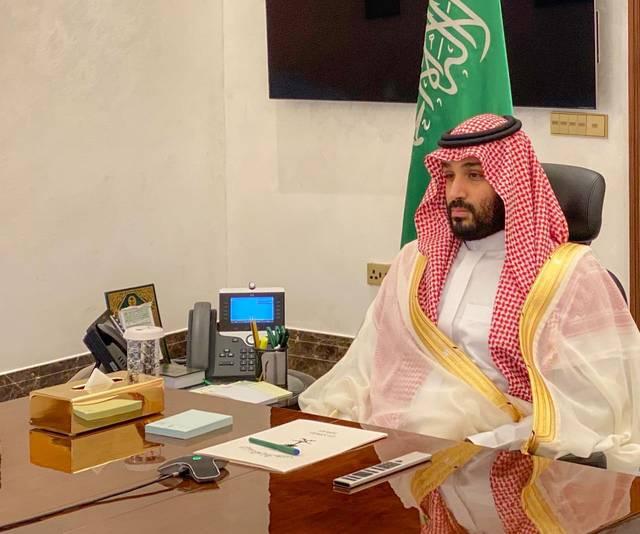 ولي العهد السعودي الأمير محمد بن سلمان خلال تهنئة لمنسوبي وزارة الدفاع بمناسبة حلول عيد الفطر المبارك