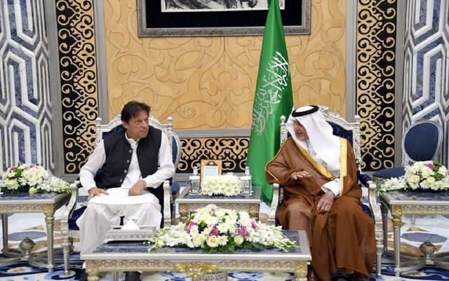 استقبال أمير مكة لرئيس الوزراء الباكستاني عمران خان
