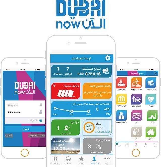الخدمات التي يتم إنجازها عبر تطبيق دبي الآن