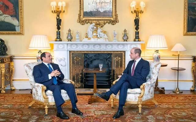 السيسي يعرب عن تطلعه لتعظيم حجم الاستثمارات البريطانية في مصر