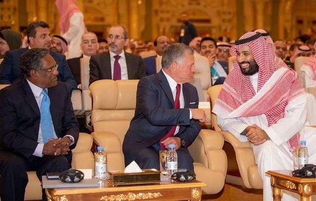 جانب من مشاركة ولي العهد الأمير محمد بن سلمان في مبادرة مستقبل الاستثمار