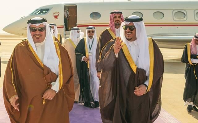 وصول ولي عهد البحرين إلى السعودية