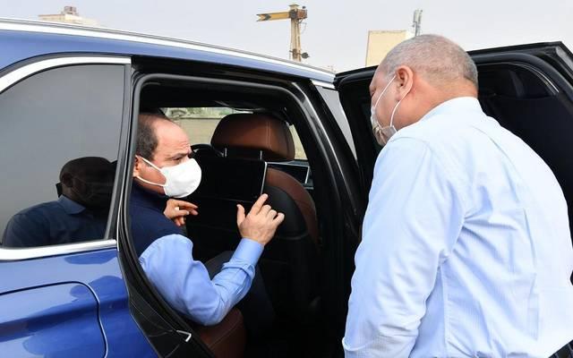 جانب من جولة الرئيس السيسي شرق القاهرة