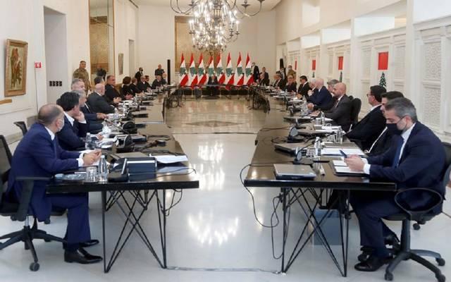 اجتماع مجلس الوزراء اللبناني مع الرئيس ميشال عون