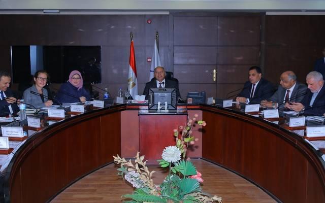 جانب من اجتماع وزير النقل مع مسئولو البنك الدولي