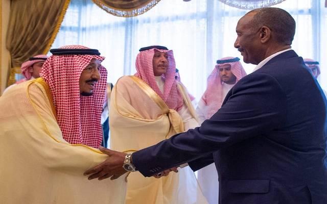 جانب من استقبال الملك سلمان لرئيس مجلس السيادة السوداني عبد الفتاح البرهان - أرشيفية