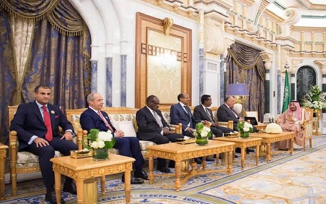 خلال استقبال الملك سلمان لوزراء خارجية الدول العربية والأفريقية المشاطئة للبحر الأحمر وخليج عدن