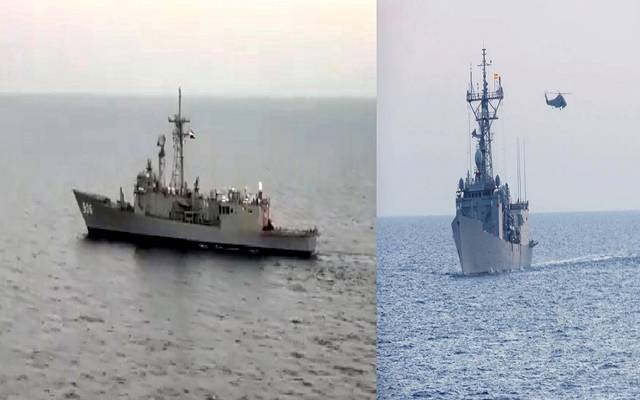 القوات البحرية المصرية والأسبانية تنفذان تدريباً عابراً فى البحر المتوسط