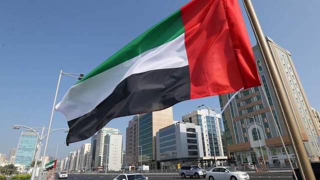علم دولة الإمارات بشوارع إمارة دبي