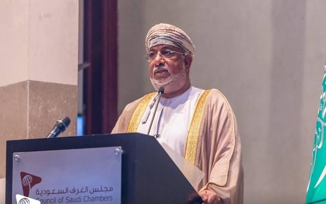 رئيس مجلس إدارة الهيئة العامة للترويج والاستثمار وتنمية الصادرات في دولة عُمان، يحي الجابري، خلال ملتقى الاستثمار السعودي العُماني