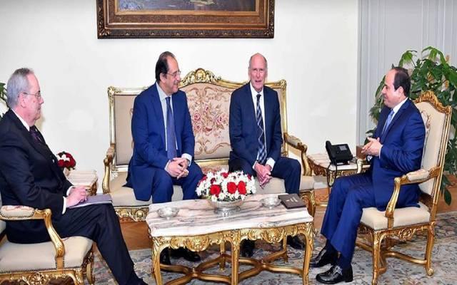 الرئيس عبد الفتاح السيسي والمدير الأمريكي للاستخبارات الوطني