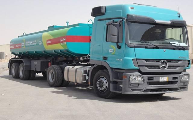 شاحنة نقل مواد بترولية تابعة للشركة السعودية لخدمات السيارات والمعدات (ساسكو)