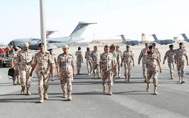 لحظة وصول القوات المسلحة القطرية