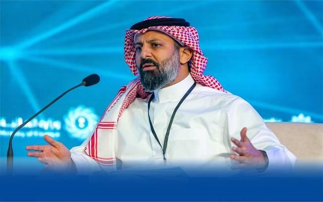 رئيس هيئة السوق المالية السعودية، محمد القويز، خلال كلمة في مؤتمر يورومني السعودية 2019