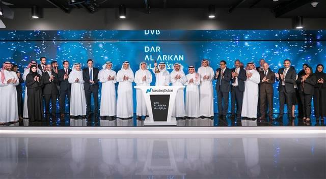 Dar Al-Arkan Chairman ringing today's session opening bell in Nasdaq Dubai