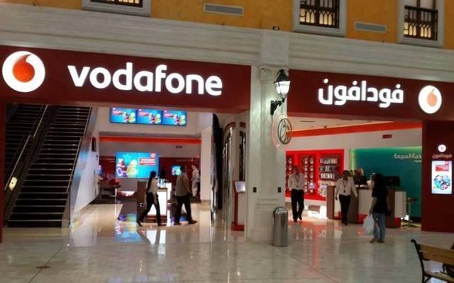 أحد منافذ شركة فودافون قطر