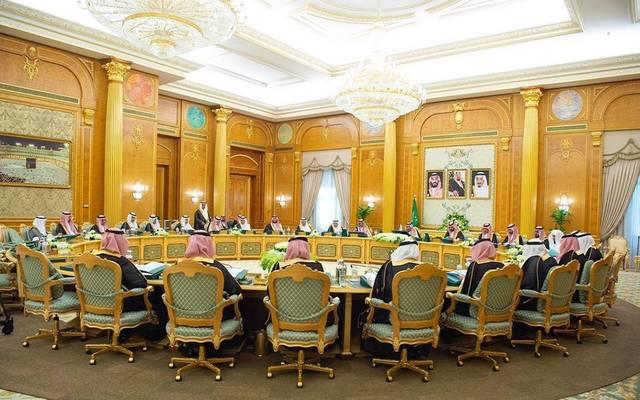 جانب من اجتماع مجلس الوزراء السعودي برئاسة خادم الحرمين الشريفين الملك سلمان بن عبد العزيز في قصر اليمامة