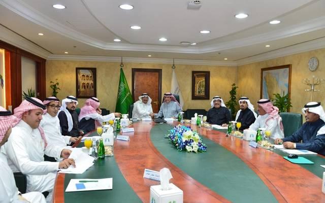 جانب من اجتماع وزير التعليم السعودي ووزير الخدمة المدنية ومسؤولين من هيئة تقويم التعليم لمناقشة موعد تطبيق لائحة الوظائف التعليمية