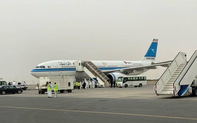 The first flights were operated by Kuwait Airways and Jazeera Airways