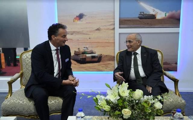 جانب من لقاء وزير الانتاج الحربي برئيس شركة diehl الألمانية