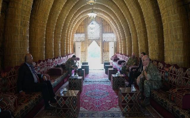 خلال استقبال الرئيس العراقي برهم صالح المستشار بوزارة الدفاع البريطانية والسفير البريطاني لدى العراق