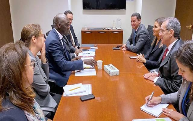 لقاء وزيري الاستثمار والاتصالات مع نائب رئيس البنك الدولي