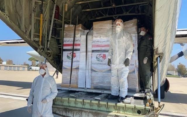 غرفة صناعة الحبوب المصرية ترسل 4 حاويات أغذية إلى لبنان