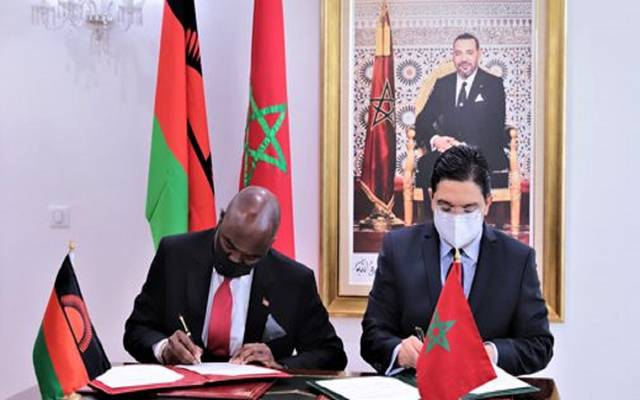 جانب من توقيع الاتفاقيات بين المغرب ومالاوي