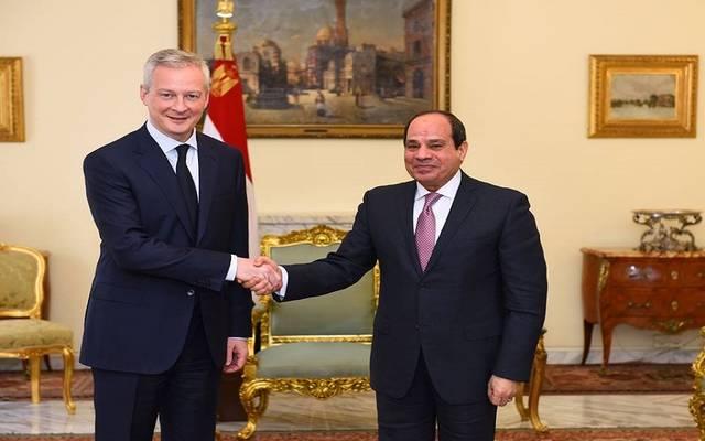 الرئيس السيسي خلال لقاء وزير الاقتصاد الفرنسي