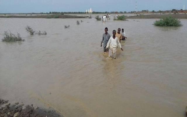 جانب من أضرار السيول في السودان