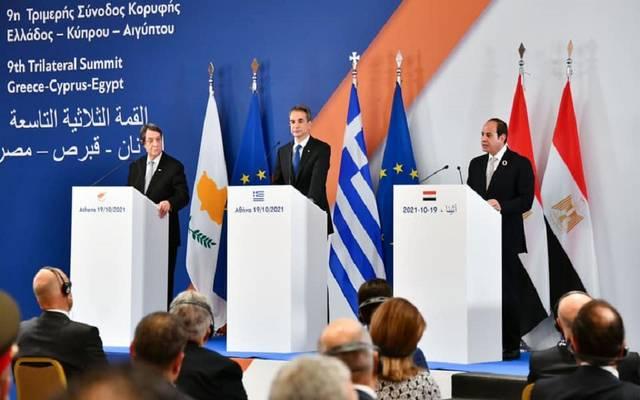 قمة اثينا الثلاثية بين مصر واليونان وقبرص