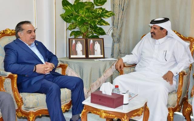 خلال استقبال النائب الأول لرئيس غرفة قطر حاكم إقليم السند