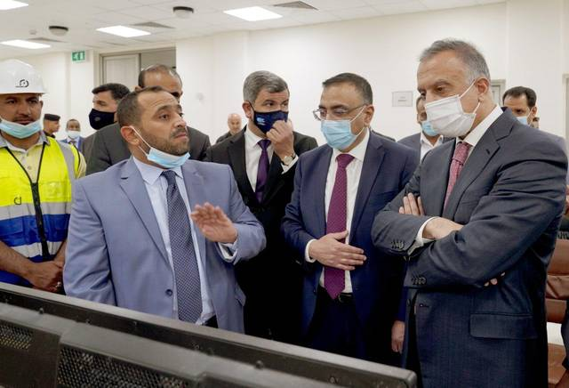 The Iraqi Prime Minister opens a new power station in Al-Muthanna Governorate