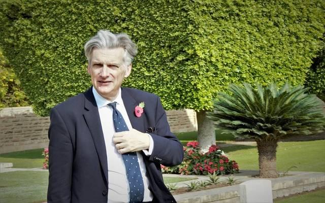 سير جيفري آدامز سفير بريطانيا بالقاهرة