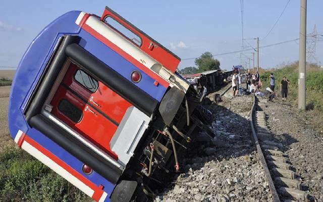 قطار خرج عن مساره في ولاية تكيرداغ شمال غربي تركيا