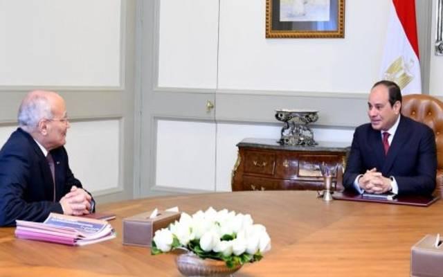 لقاء سابق بين الرئيس السيسي والفريق العصار وزير الإنتاج الحربي - أرشيفية