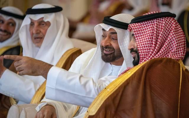 ولي عهد السعودية وولي عهد أبوظبي خلال لقاء سابق في المملكة