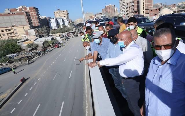 """وزير النقل يتفقد عددًا من كباري طريق """"القاهرة – الإسكندرية"""" الصحراوي"""