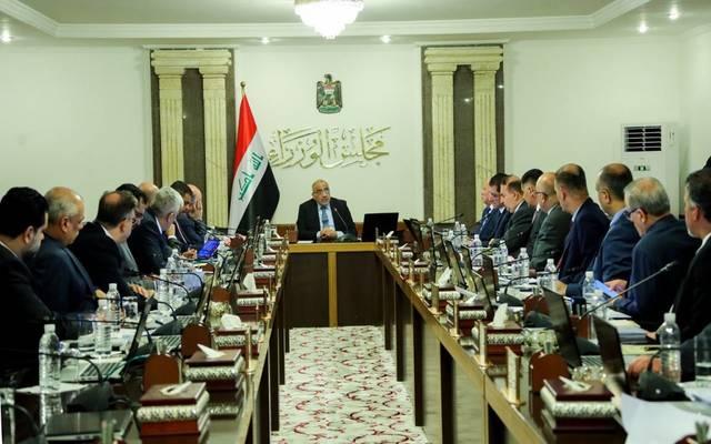اجتماع سابق للحكومة العراقية برئاسة عادل عبدالمهدي رئيس مجلس الوزراء
