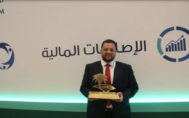 جانب من تكريم الرئيس التنفيذي لشركة مباشر ميديا عاصم البصال