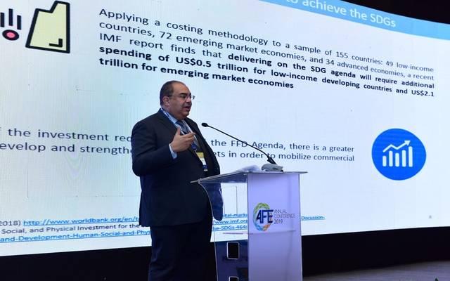 محمود محي الدين - خلال مؤتمر البورصات العربية