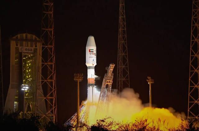 صورة للقمر الصناعي الإماراتي عين الصقر 2