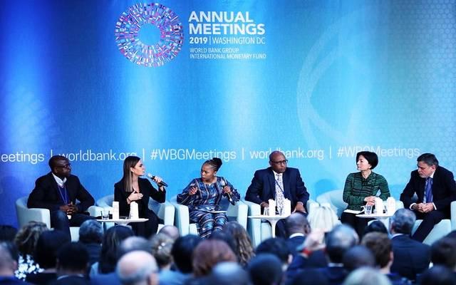 جانب من جلسة الحوار حول الوظائف والتحول الاقتصادي في الأسواق الناشئة