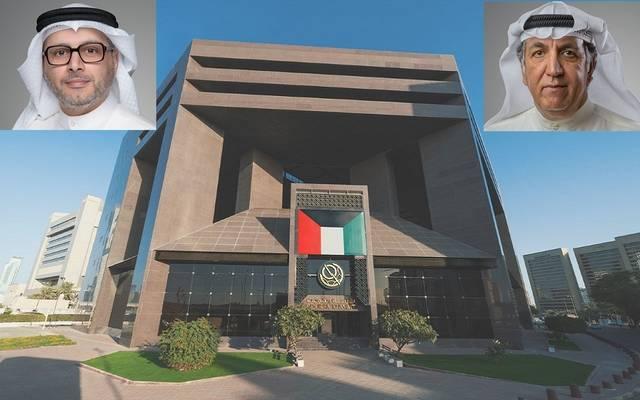 مقر بورصة الكويت والمتحدثون في البيان
